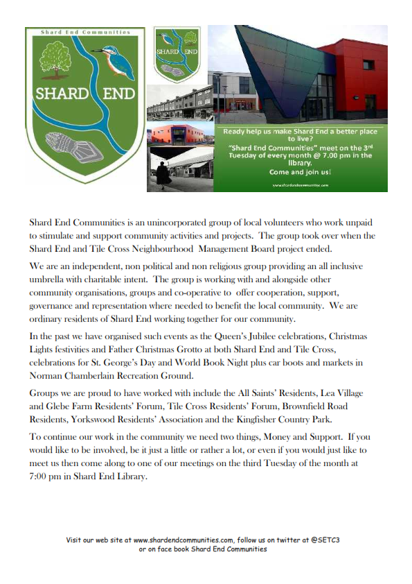 Who are Shard End Communities