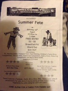 Brownfield Road Allotments Summer Fete