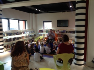 Story time in Shard End Library