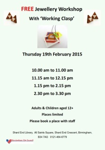 Book your free place with library staff.