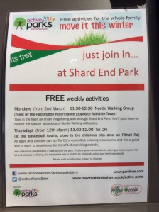 FREE activities in Shard End park.