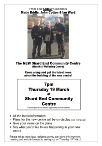 Come and hear about the plans for our new Community Centre.