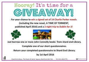 John Connolly Giveaway